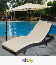 Adjustable Pool Chaise Lounge Chair Outdoor Patio Furniture PE Wicker W/Cushion. Adjustable Pool Chaise Lounge Chair Outdoor Patio Furniture PE Wicker W/Cushion Pool Lounge Chairs, Patio Chaise Lounge, Outdoor Chairs, Outdoor Pool, Chaise Lounges, Outdoor Lounge, Outdoor Patios, Pool Patio Furniture, Outdoor Furniture