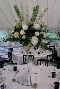 Martini glass & white flowers