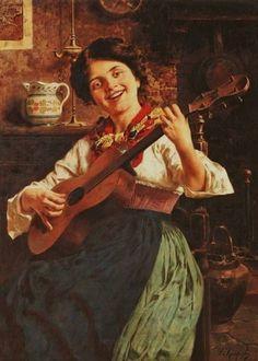 Dolce far niente - Музыка и живопись. Eugenio Zampighi (1859-1944)