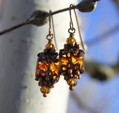 Victorian Topaz Earrings Unique Boho Jewelry di CreativeCutes