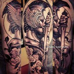 female warrior by Justin Hartman