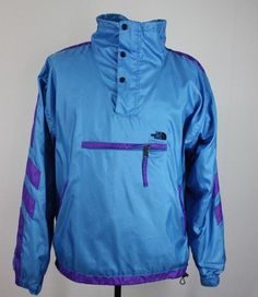 VTG XL The North Face Anorak Pullover Purple Blue Retro Ski Jacket Coat #TheNorthFace #Anorak
