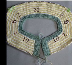 Baby Boy Cardigan vom Hals gestartet 3 - My CMS Baby Knitting Patterns, Knitting For Kids, Crochet For Kids, Loom Knitting, Knitting Stitches, Knitting Designs, Baby Patterns, Crochet Patterns, Cardigan Bebe