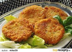 Cuketové karbanátky se šunkou a tvarůžky recept - TopRecepty.cz Crispy Chicken, Fried Chicken, Veggie Fries, Meat Recipes, Cauliflower, Pork, Food And Drink, Snacks, Dinner
