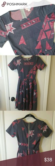 Lularoe Amelia Dress EUC Amelia Dress Geometric Design. No flaws, stains, or tears. LuLaRoe Dresses