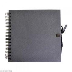 Cuaderno de scrapbooking 20 x 20 cm - Negro - 40 hojas - Fotografía n°1