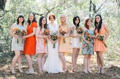 Bright Color Bridesmaid Dresses