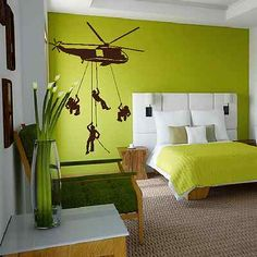 Army Helicopter Soldiers War Rope Kids Bedroom Wall Sticker Art Design Mural V6.>>>>HAVE FRIENDS IN ARIZONA? Tell them we'd love them to visit our restaurant, the LEFT SEAT WEST, an AVIATION THEMED RESTAURANT in Glendale, Arizona!  Check out our Facebook page! http://www.facebook.com/pages/Left-Seat-West-Restaurant/192309664138462