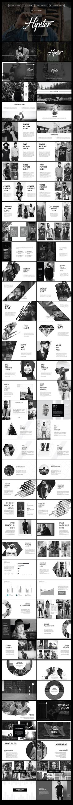 Buy Hipster Powerpoint Template by fikrana on GraphicRiver. MAIN FILE: Images Placeholder Drag And Drop image Theme Colour Option, Easy to change colors, Fully editable text, ph. Keynote Design, Ppt Design, Brochure Design, Layout Design, Design Graphique, Art Graphique, Website Design Inspiration, Graphic Design Inspiration, Editorial Layout