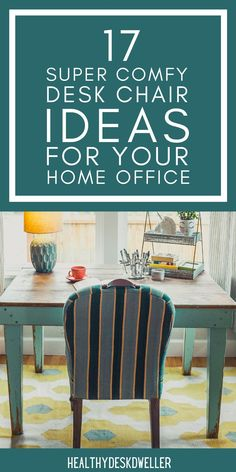 Looking for a super comfy office desk chair to add to your home office? Working from home has never been more luxurious with one of these amazing chairs! These desk chairs are all stylish, comfortable, functional, and high-quality. Best of all, there's something for everyone's home office decor! Wood Office Desk, Home Office Desks, Home Office Furniture, Furniture Ideas, Modern Desk Chair, Desk Chairs, Dining Chairs, Modern Office Decor, Most Comfortable Office Chair