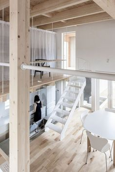 Roof and Rectangular is a minimalist architecture project located in Asahikawa, Japan, designed by Jun Igarashi Architects. Wooden House Design, Mini Loft, Minimalist Architecture, Japanese Architecture, Contemporary Architecture, Small Buildings, Japanese Interior, Living Room Remodel, Japanese House