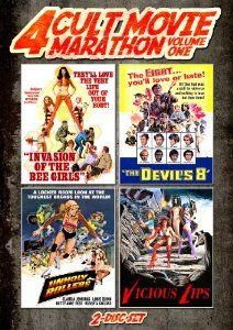 Amazon.com: Cult Movie Marathon (Unholy Rollers, Invasion of the Bee Girls, Devil's Eight & Vicious Lips): Claudia Jennings, Anitra Ford, Al...