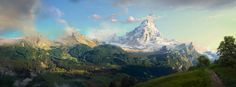 ArtStation - The Lonely Mountain, Daniel Romanovsky