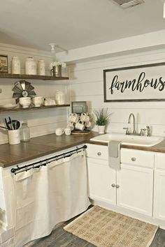 New Small Kitchen Remodel Ideas Five Qualities of a Good Kitchen Design We Need To Know. Before we start getting things done for our new kitchen, here are five qualities of a good kitchen design that are worthy of our attention: Farmhouse Kitchen Inspiration, Small Farmhouse Kitchen, Farmhouse Kitchen Cabinets, Rustic Kitchen, Rustic Farmhouse, Farmhouse Design, Kitchen Sink, Kitchen Small, Kitchen Countertops