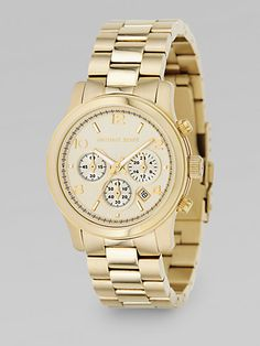 Michael Kors Stainless Steel Chronograph Watch/Goldtone