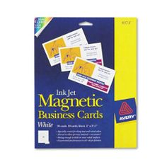 Magnetized generic name card magnetic business cards pack of 25 make magnetic business cards with all your contact info for parents to put on their colourmoves
