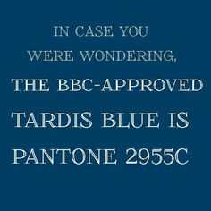 To go with the Tardis bar