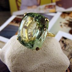 Green Beryl Ring this site has amazing vintage jewelry! Love this ring so much