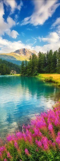 Chamfer lake, Swiss Alps, Switzerland