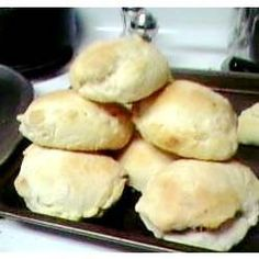 Bierocks (sweet dinner rolls stuffed with ground beef, onion and cabbage)