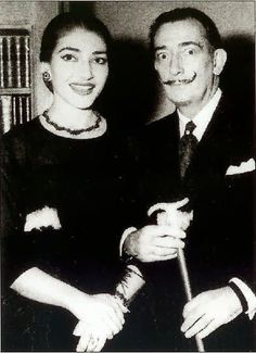 EVGENIA GL RARE PHOTO Maria CALLAS  with Dali   Unique