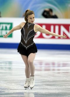 Ashley Wagner of USA compete in the ladies's short program during day one of the ISU Grand Prix of Figure Skating Final 2013/2014 at Marine ...