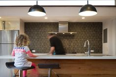 Westgarth Timber Project - contemporary - Kitchen - Melbourne - Ben Callery Architects