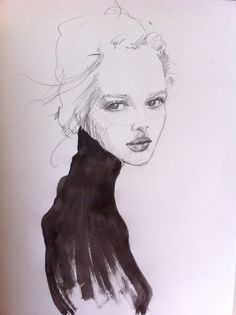 felixinclusis:    kasiagorgeous:Here is my Illustration of the Canadian Model, Anaïs Pouliot, when she graced the Cover of Acne Paper for Spring 2011…I'vebeen wanting to draw her since I saw her on this cover for she is absolutely GORGEOUS! By Kasia