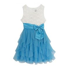 jcpenney.com | Rare Editions Flower Tulle Waterfall Dress - Girls 7-16