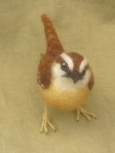 Carolina Wren needle felted bird made to oorder by Ainigmati