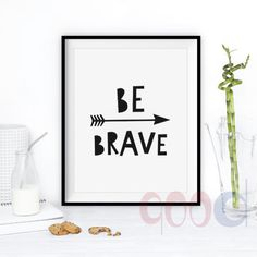 Aliexpress.com : Buy Cartoon Be Brave Quote Canvas Art Print, Wall Pictures Home Decoration, Painting Poster Frame not include FA193 from Reliable Painting & Calligraphy suppliers on 900D | Alibaba Group