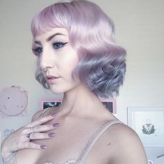 @amme_b_shop used Lunar Tides Smokey Navy in this ombre  #pastel #pink #ombre #grey #silver #navy #hair #lunar #tides #dye #color
