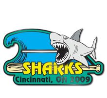 Check out this customized Shark slider team trading lapel pin from Custompinshop.com. Custompinshop.com can create a customized design for your baseball, softball, or sports team. Our competitive pricing offers the lowest price guaranteed to our customers. Request your free quote today and receive a gift card up to $50.00 or you can choose to donate to one of the reputable charities listed on our website.