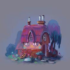ArtStation - Cartoon houses, Josephine Sun