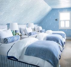 Bunk Rooms, Enchanted Home, Guest Rooms, Beautiful Bedrooms, Bed & Bath, Beach House, Comforters, Beds, Loft
