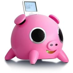 iPod charging dock that looks like a Pig. Of course!