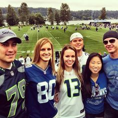 Seahawks Spirit: Seahawks training camp opener! #practicemakesperfect #shermandances #russellinred