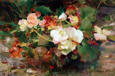 """Born and raised in Chicago, Illinois, Richard Schmid became one of the foremost Impressionist painters of the Southwest in the late century. He is known for what he calls """"The Grand Manner,"""" a certain mingling of virtuosity and unrestrained joy in art. Painting Still Life, Still Life Art, Still Life Flowers, Beautiful Paintings, Painting Inspiration, Landscape Paintings, Floral Paintings, Painting & Drawing, Figure Drawing"""