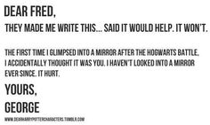 Dear Fred, Yours, George