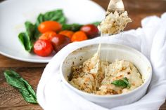 This dip is perfect hot as an appetizer or cold as lunch time leftovers. Cheesy, creamy, delicious dip for low-carb crackers.