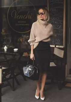 Winter Warm Turtleneck Knitted Sweater