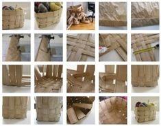 Canasta para lanas con bolsas de papel 3