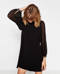 Image 4 of GEM APPLIQUÉ DRESS from Zara