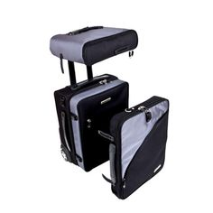 Balanzza TRUCO - TRUCO (Travel Utility Carry On), is the first modular CarryOn in the world, designed to fit space over or under the airplane's seat. It is based on 3 strategically designed baggage pieces that become a full size CarryOn when stacked together. TRUCO can be split apart to remedy the overhead space compartments, while also providing easy access to valuable items.