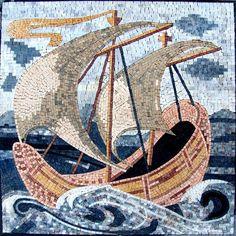 Sailing Boat Mosaic  $516.00 80х80