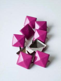 50 pcs x Magenta square studs mix of 2 by Catherine Trudel Design Studio Leather Cuffs, Custom Stickers, Magenta, Diy Wedding, Craft Supplies, 50th, Studs, My Etsy Shop, Unique Jewelry