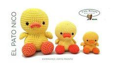 ¡Hoy toca hacer un Amigurumi! Es una técnica japonesa de crochet que está muy de moda y que tiene infinidad de patrones. El Pato Nico ...