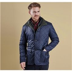New for Autumn 2015 Barbour Prior Quilted Jacket - Navy