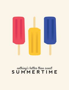 Nothing's Better Than Sweet Summertime Free Printable #BHGsummer