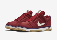 NIKE AIR FORCE II LOW-GYM RED AND BLACK-2